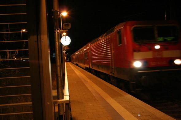 German train station